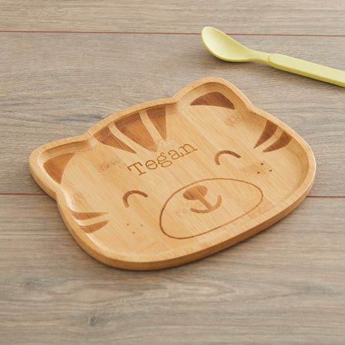 Personalised Tiger Bamboo Plate