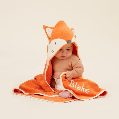 Personalised Fox Hooded Towel Model