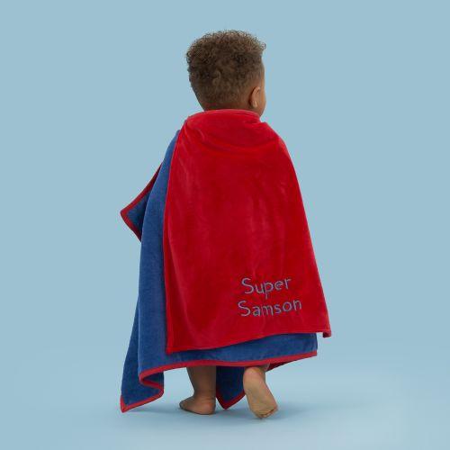 Personalised Superhero Bath Wrap with Mask & Cape