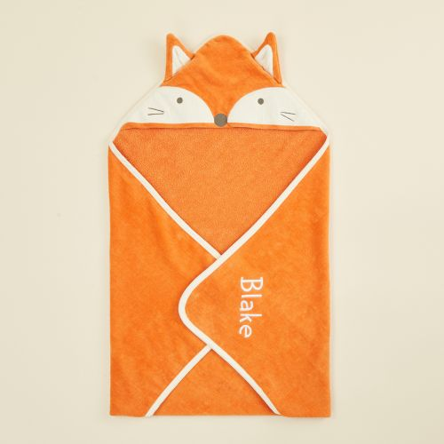 Personalised Fox Hooded Towel