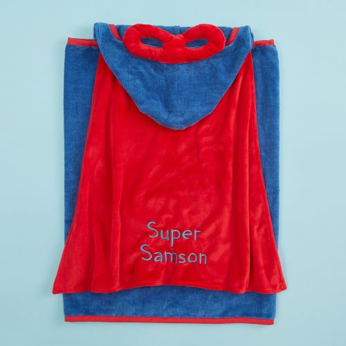 Personalised Superhero Bath Wrap with Mask & Cape