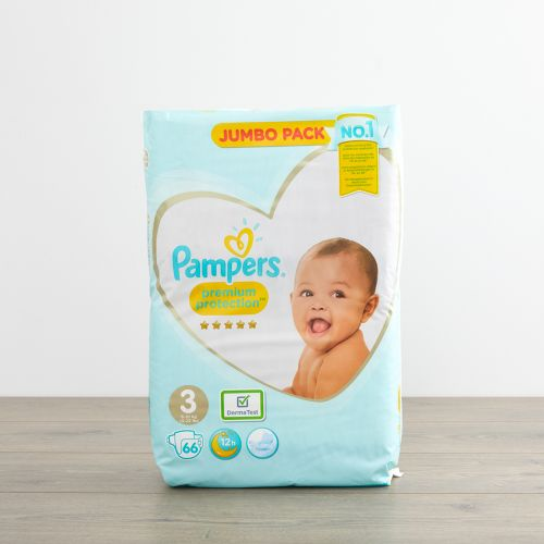 Pampers Size 3 Premium Protection Nappies (Jumbo Pack 66s)