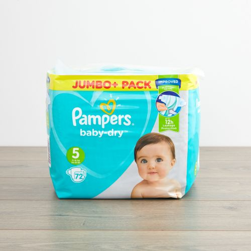 Pampers Size 5 Baby Dry Nappies (Jumbo Pack 72s)