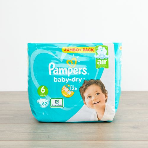 Pampers Size 6 Baby Dry Nappies (Jumbo Pack 62s)