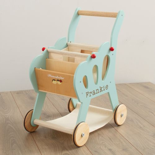 Personalised Le Toy Van  Wooden Shopping Trolley Toy