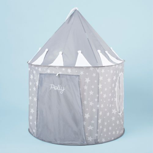 Personalised Grey Star Play Tent