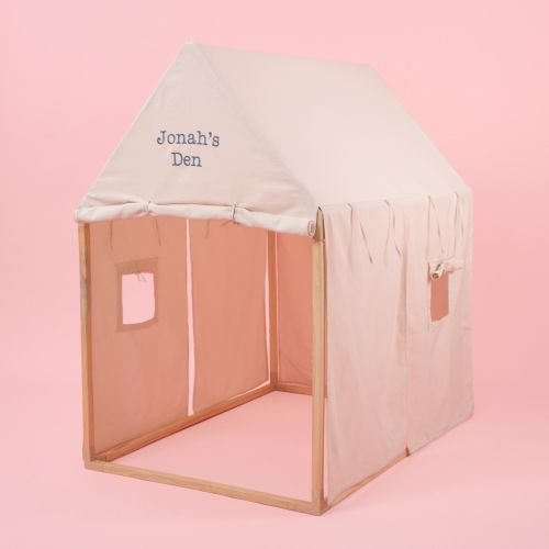 Personalised Cream Play House Tent