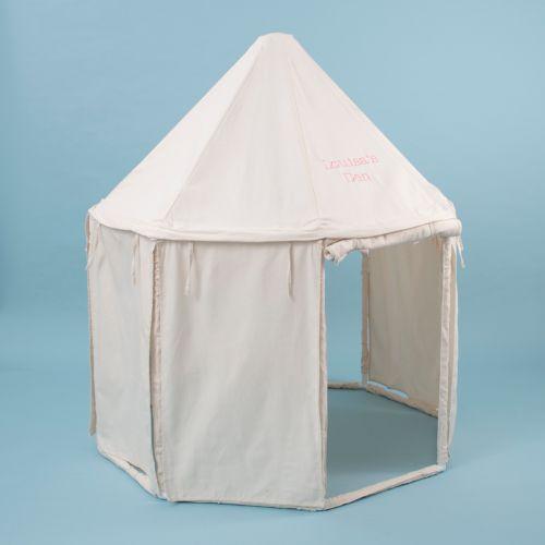 Personalised Cream Pavillion Play Tent