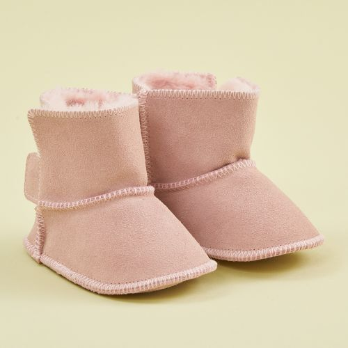 Personalised Pink Suede Booties