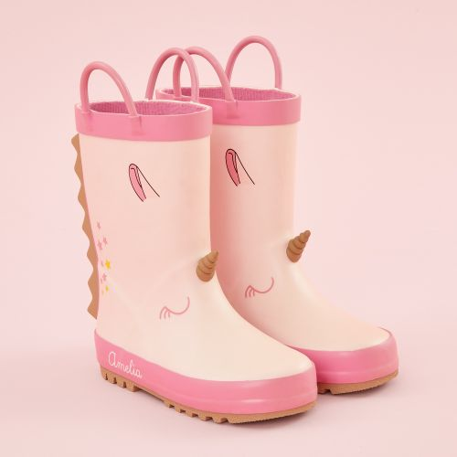 Personalised Pink Unicorn Wellies