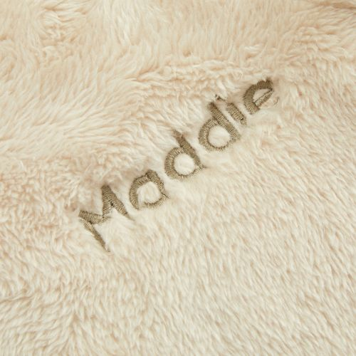 Personalised Oatmeal Fleece Pramsuit with Bear Ears