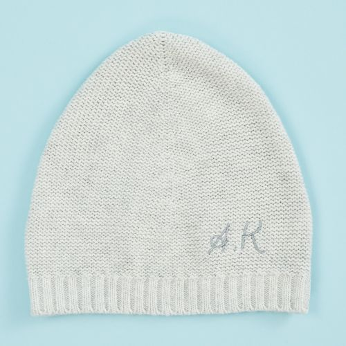 Personalised Knitted Grey Hat