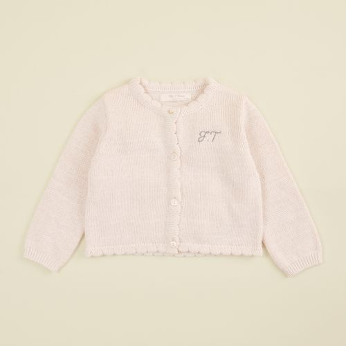 Personalised Pink Knitted Cardigan