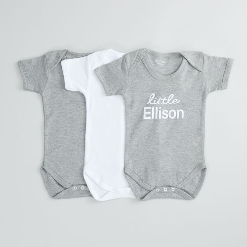 Personalised Pack of 3 Bodysuits with Peanut Design