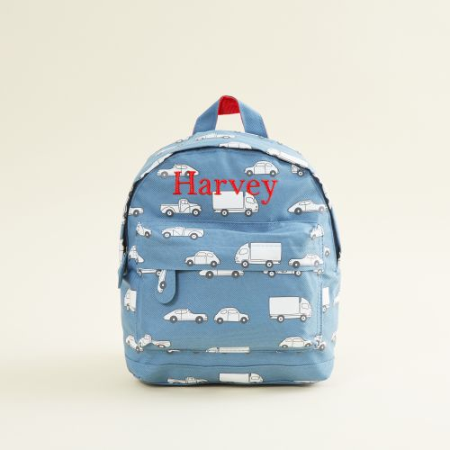 Personalised Car Print Mini Backpack