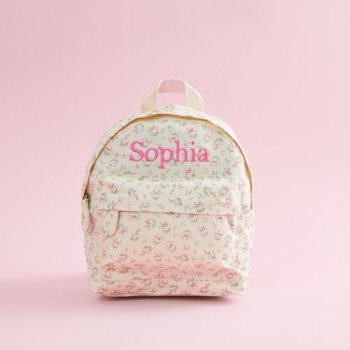 Personalised Ditsy Floral Print Mini Backpack