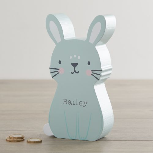 Personalised Bunny Money Box