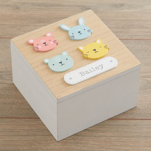 Personalised Furry Friends Keepsake Box