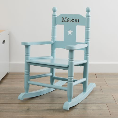 Personalised Blue Star Children's Rocking Chair