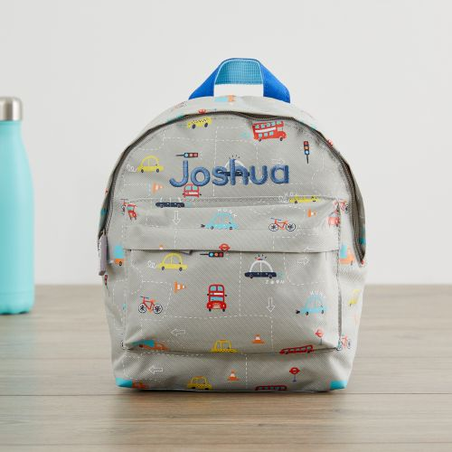 Personalised Transport Print Mini Backpack