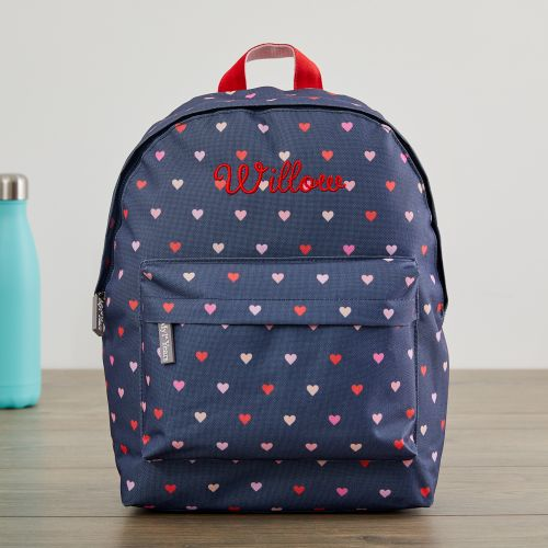 Personalised Heart Print Infant Backpack