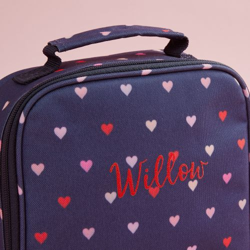 Personalised Heart Print Lunch Bag