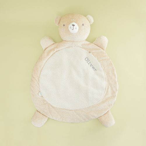 Personalised Cream Bear Playmat