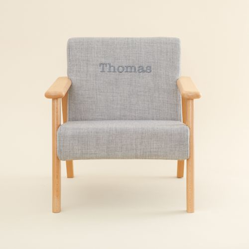 Personalised Grey Children's Arm Chair