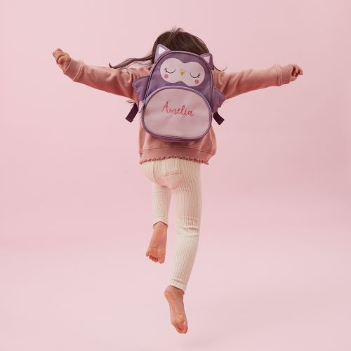 Personalised Pink Owl Mini Backpack Model