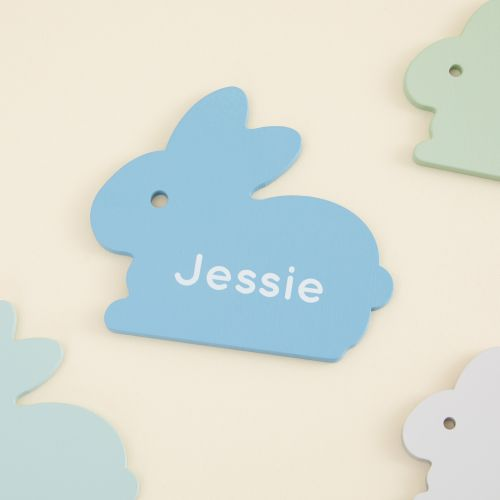 Personalised Blue Bunny Puzzle Toy