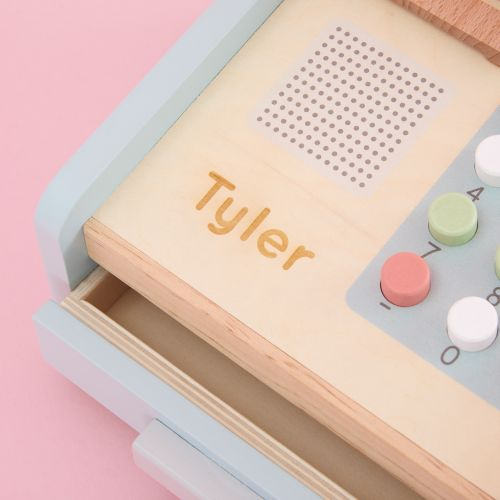 Personalised Cash Register Wooden Toy