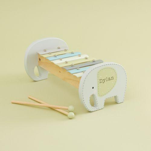 Personalised Elephant Wooden Xylophone