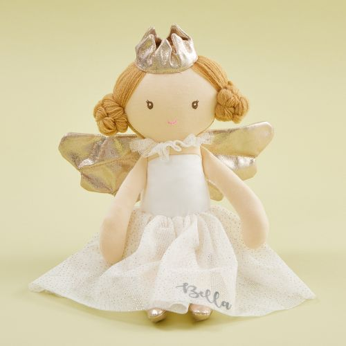 Personalised Angel Soft Doll With Blonde Hair