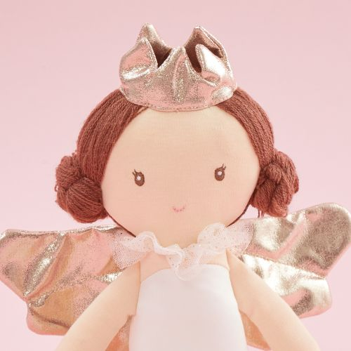 Personalised Angel Soft Doll With Brown Hair