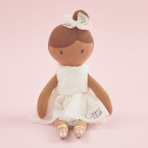 Personalised Ballerina Soft Doll with Black Hair