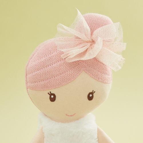 Personalised Large Ballerina Soft Doll with Pink Hair