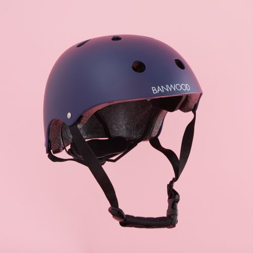 Personalised Banwood Classic Bicycle Helmet in Navy Blue