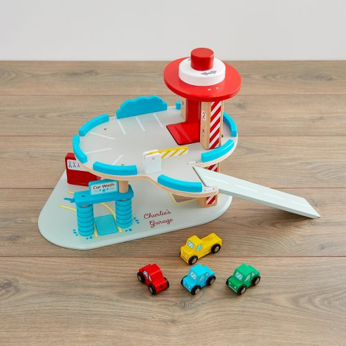 Personalised Garage Wooden Toy