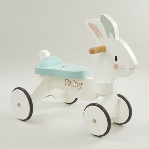 Personalised Tenderleaf Rabbit Ride On