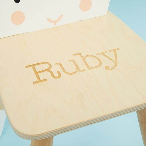 Personalised Rabbit Design Children's Chair