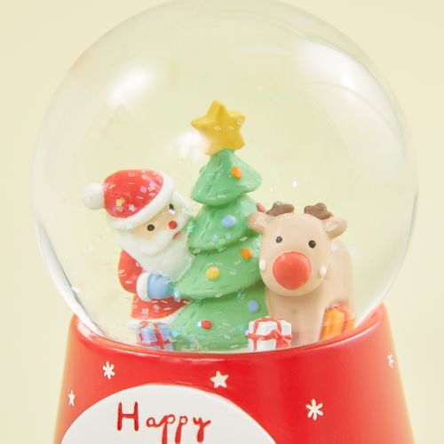 Personalised Santa Scene Snow Globe
