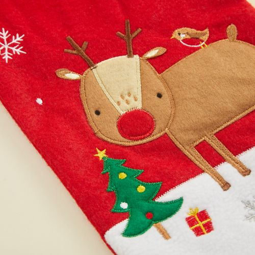 Personalised Small Fur Top Reindeer Stocking