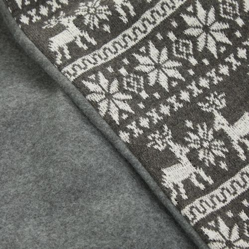 Personalised Grey Fairisle Christmas Sack