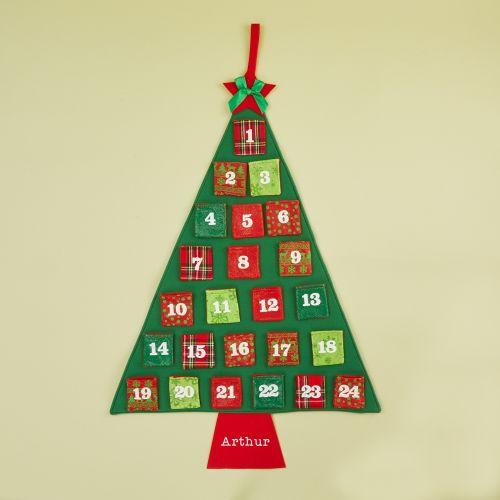 Personalised Hanging Christmas Tree Advent Calendar