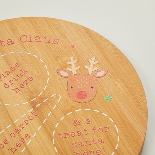 Personalised 'Dear Santa Claus' Christmas Eve Platter