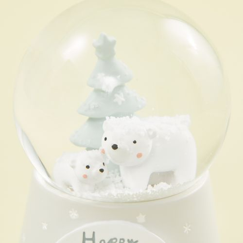 Personalised Polar Bear Scene Snow Globe