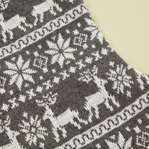 Personalised Grey Fairisle Stocking