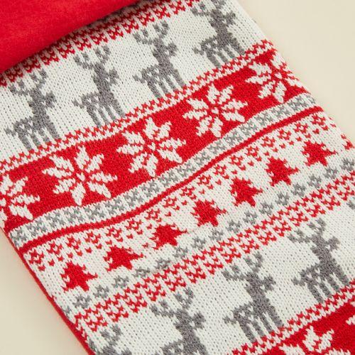 Personalised Red Fairisle Stocking