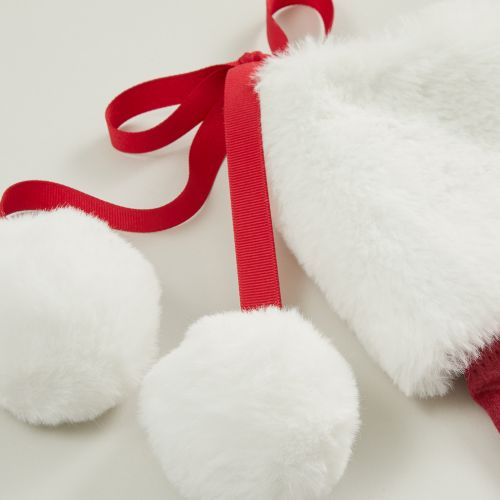 Personalised Embossed Red Velvet Stocking