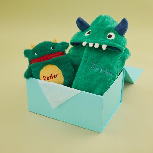 Personalised Little Monster Gift Set